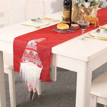 2019 Christmas Santa Claus Christmas Tablecloths Flags Xmas Dining Tables Tapestry Cover Home Table Decors santa claus reindeer printed christmas tapestry