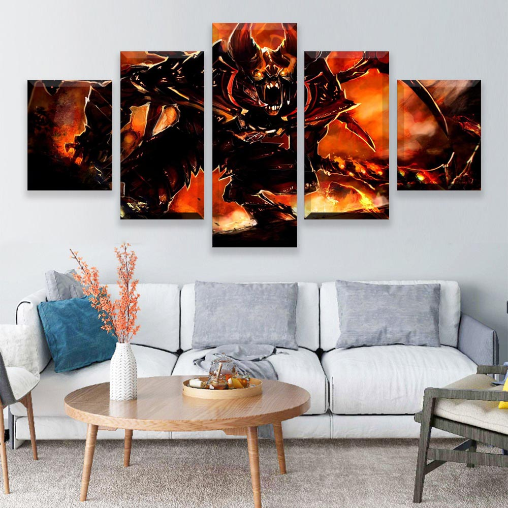 5 Pieces Halo Video Games Canvas The Ultimate Doom Wall Art Canvas Painting Pictures For Living Room Home Decor image