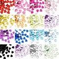 100 шт сердце Mulitcol00or акрил l Стразы для дизайна ногтей Flatback Crystal AB не Горячая фиксация Стразы блестящие стразы Oleeya F0307