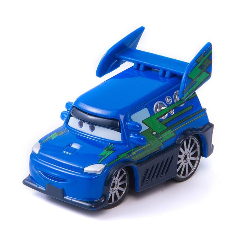Car Diney Pixar Car 3  Flame DJ Lightning McQueen Mater Jackon Torm Cruz 1:55 Diecat Metal Alloy Model Toy Car Kid  Boy