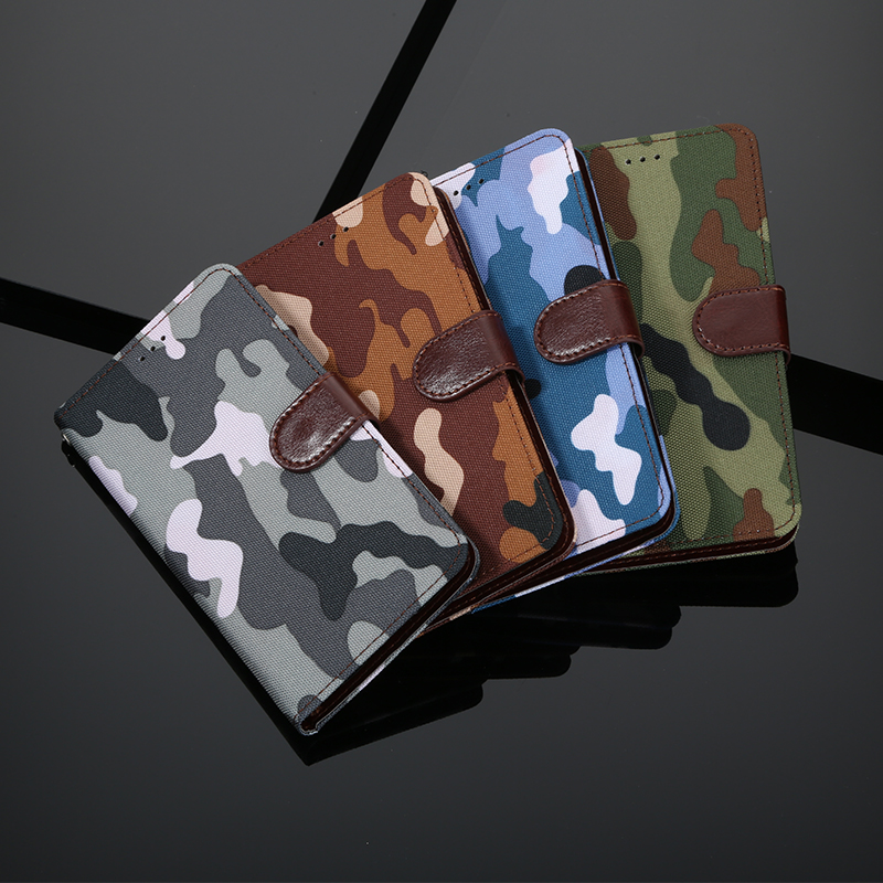 Camouflage <font><b>Oneplus</b></font> 7 Pro 7T <font><b>6</b></font> 6T 5 5T 3 3T 8 Pro <font><b>Case</b></font> Flip Leather <font><b>Wallet</b></font> Book Stand Cover for One Plus 7 Pro 1+7 Phone <font><b>Case</b></font> image