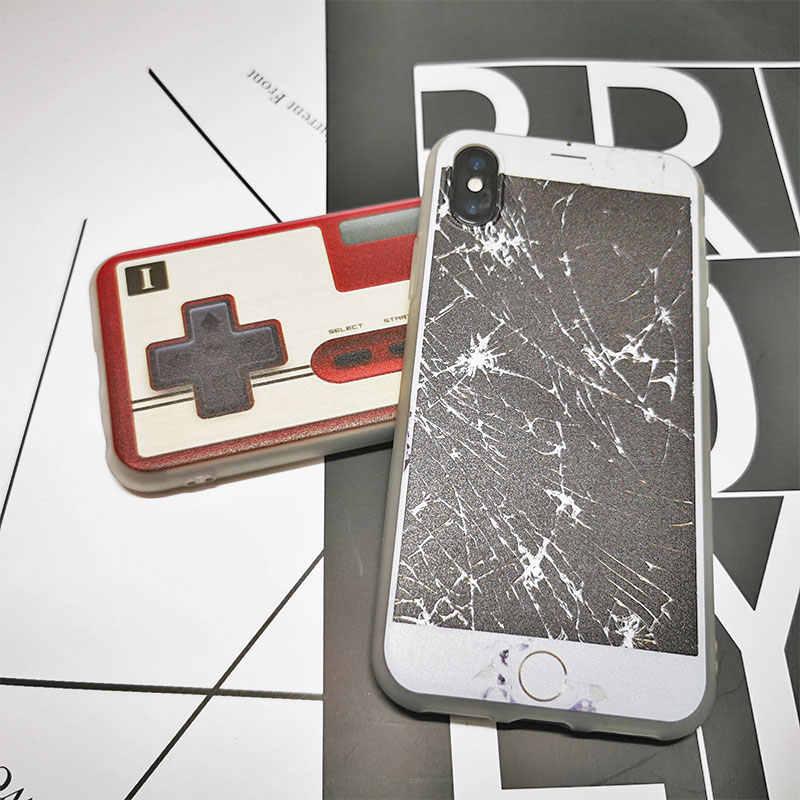 Śmieszne miękkie etui z tpu na telefon dla iPhone X XS Max XR 11 Pro 7 8 Plus 6 6S 5 5S SE piwo napoje Gameboy zepsuty ekran pokrywa silikonowa