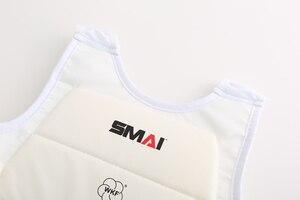 Image 3 - Wkf certificação smai karate protetor de peito karate extremo protetor de peito boxe protetor de peito karate protetor de peito