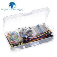 Composant électronique démarreur de base pour Arduino, Kit avec 830 points d'attache, condensateur de résistance de câble, potentiomètre