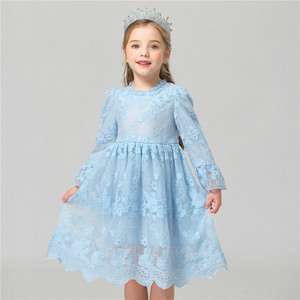 Flower Dress Girl Princess Costume Dresses Girl Party Wear Tulle Kids Children Prom Gown Vestido Formal Dress 4-10 Years(China)