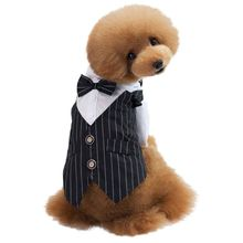 Модная рубашка для щенка, собаки в полоску, одежда для джентльмена, одежда для собак, хлопковые рубашки под костюм кошки, летняя одежда для собак, пальто
