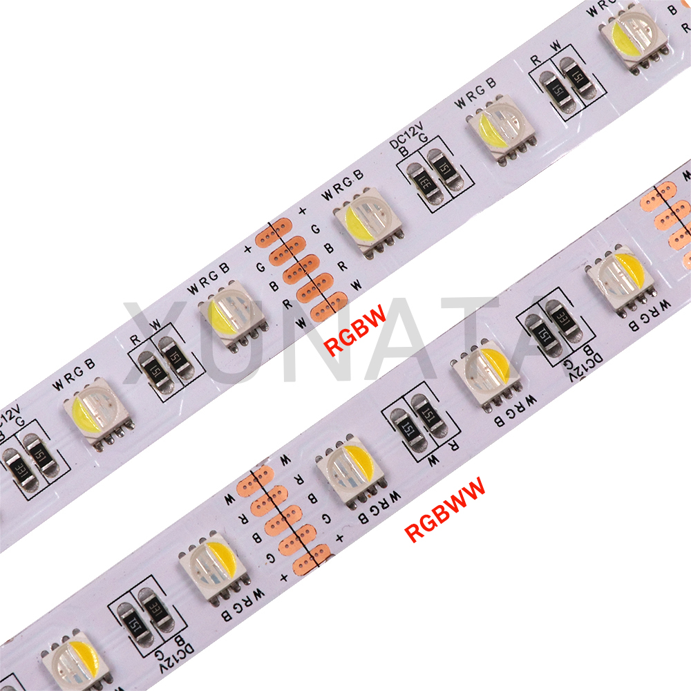 5m 4 Colors in RGBW RGBWW Led Strip SMD 5050 12V 24V Outdoor Waterproof Led Light Strip 60Leds/m Flexible Led Tape ruban led image