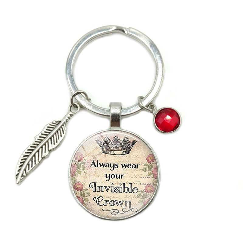 2019 חדש חם ידידות שמועות הטוב ביותר חברים זמן זכוכית כיפת Keychain 8 צבע קריסטל סגסוגת עלים תכשיטי מפתח טבעת קטן מתנה