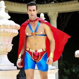 Image 2 - Disfraz de superhéroe para hombre, Superman de disfraces de Cosplay para fiesta de Halloween, 6610