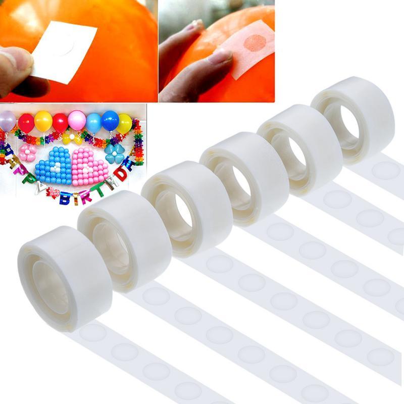 100pcs/roll Super Pegajosa Cola Balão decoração Balões Ponto Ponto de Cola fita Adesiva Dupla Face Para O Aniversário festa de casamento
