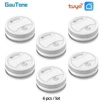 GauTone PA443W WiFi Smoke Alarm Tuya Smart Life Fire Protection Smokehouse System Home Security Detector - discount item  50% OFF Fire Protection