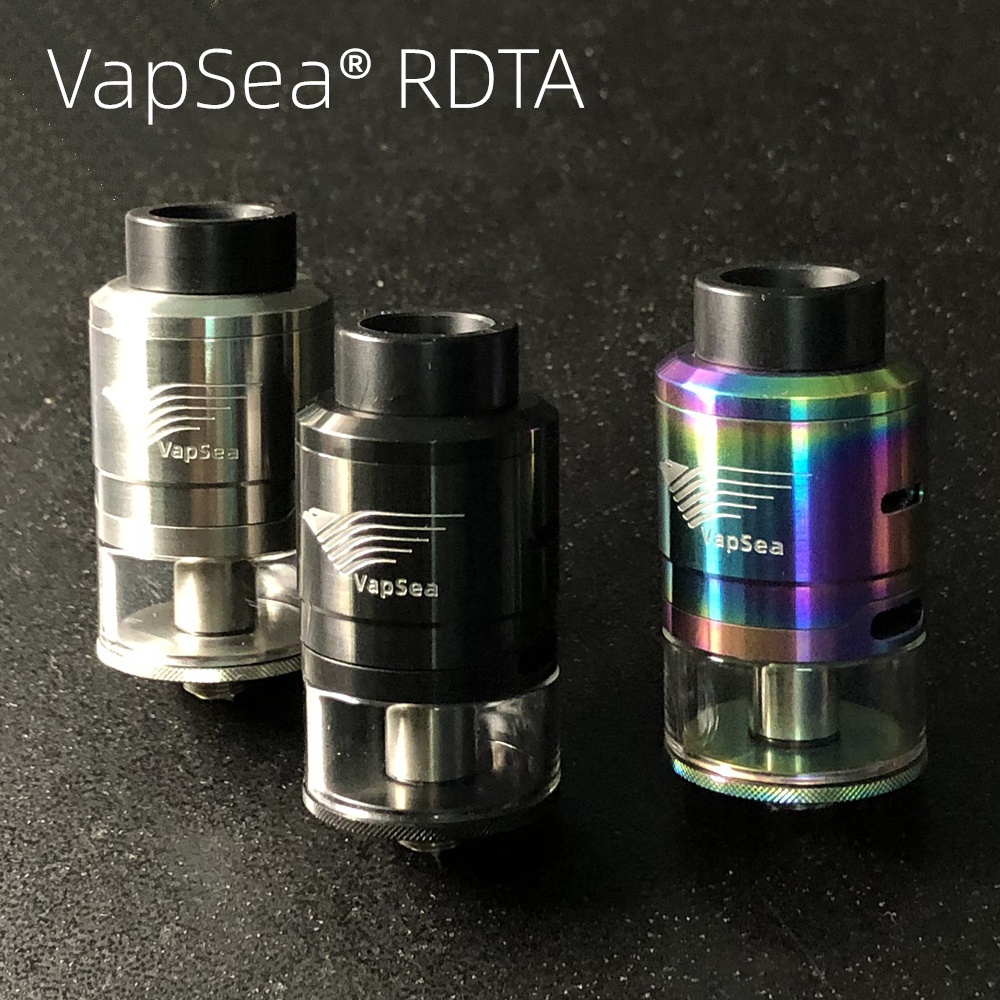 Original VapSea RDTA Atomizer 3.0ml Capacity 24mm Vaporizer Tank For Vaper Electronic Cigarette Box Mod Vape