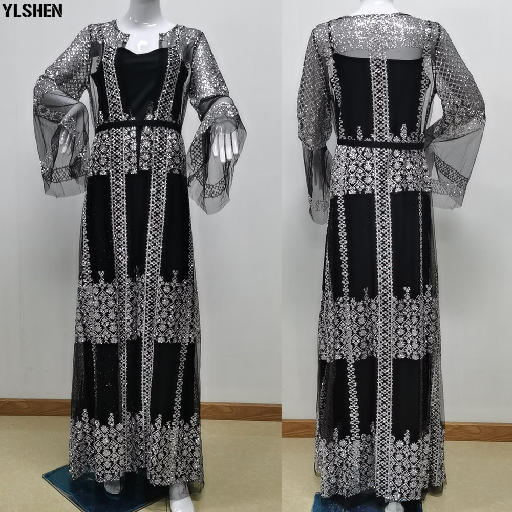 2 Piece Set Africa Dress African Dresses For Women Clothes New Style Sexy Mesh Africa Clothing Daily Dress Evening Party Dress