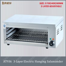 AT936 3-layer electric salamander stainless steel grill commercial hanging oven lift machine