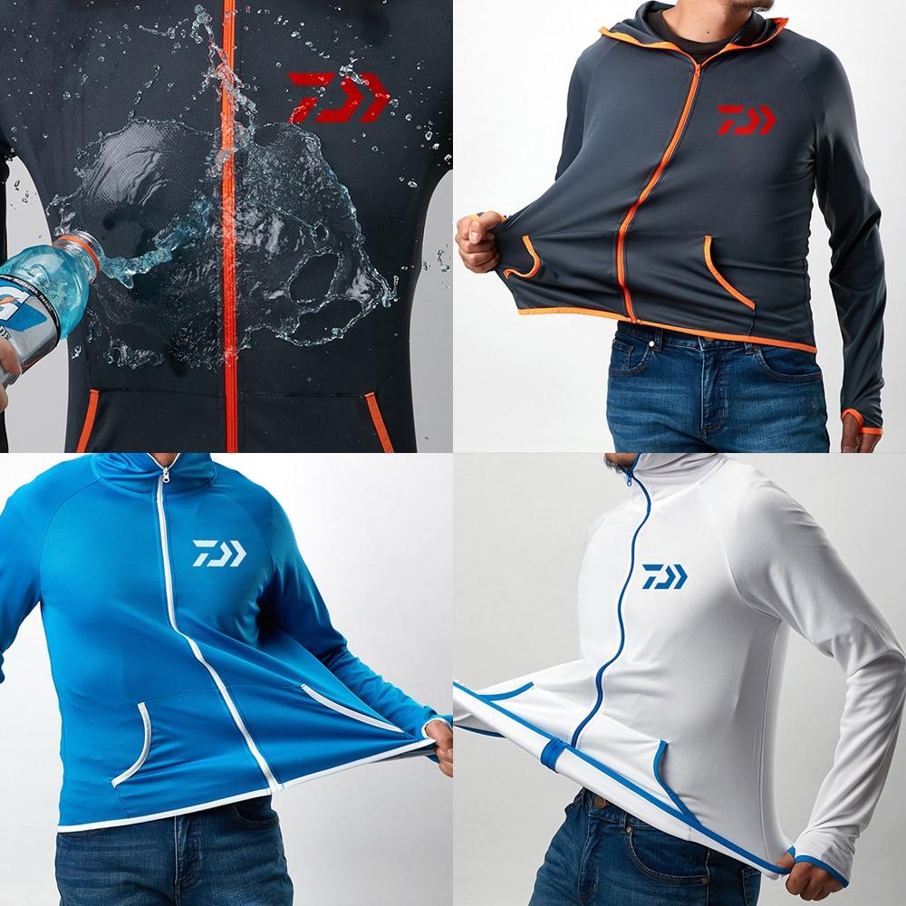 Fishing Shirt Breathable Fishing Clothing Men Waterproof Fishing Shirts Long Sleeve Fishing Jacket Quick Drying Fishing Clothes 5