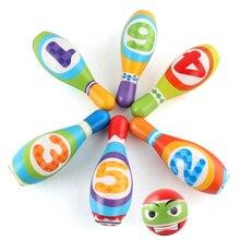 Набор для боулинга с булавками и шариками, развивающие игрушки для спортивных тренировок и моторических навыков