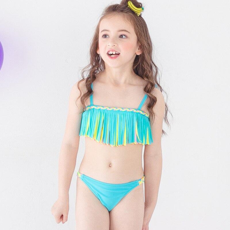 PA Yasen New Style Bathing Suit-Style Children Cute Cartoon Bikini Two-Piece Bathing Suit 1823