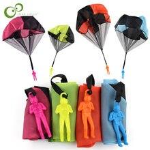 4 Stuks Hand Gooien Parachute Mini Soldaat Parachute Kinderen Speelgoed Outdoor Sport Kids Games Speel Kinderen Educatief Speelgoed zxh