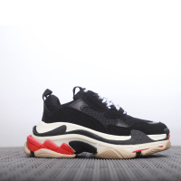 Triple S Men Women Sneaker Thick Bottom Brand High Quality Street Old Dad Shoes Zapatillas Mujer Deportiva Bal Height Increasing