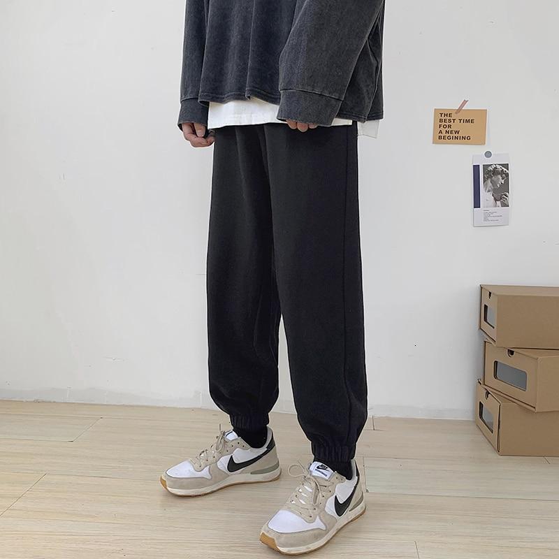 Мужские тренировочные брюки HybSkr 2021, модные спортивные брюки в стиле Харадзюку, мужские повседневные классические брюки оверсайз