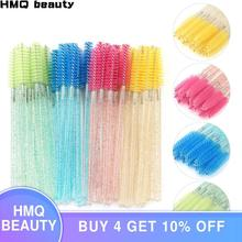 25/50Pcs Disposable Crystal Eyelash Brush Mascara Wands Applicator Grafting Eyelash Curling Comb Beauty Makeup Tool