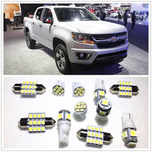 11 Set Putih LED Lampu Interior Paket T10 & 36 Mm & 41 Peta Dome untuk Chevrolet Colorado Captiva Olahraga impala 2001-2019(China)