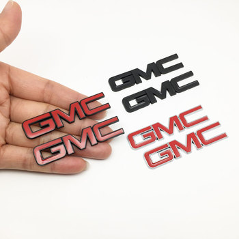 цена на 2pcs/lot Small Metal Stickers for GMC Logo Car Sticker Side Emblem Tail Badge Auto Rear Trunk Decals for Jeep Wrangler