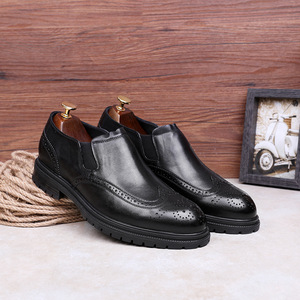 Image 4 - DESAI Fur Mens Outdoor Men British Style Fashion Ankle Boots Black/Brown/Red Brogues Soft Genuine Leather Casual Shoes