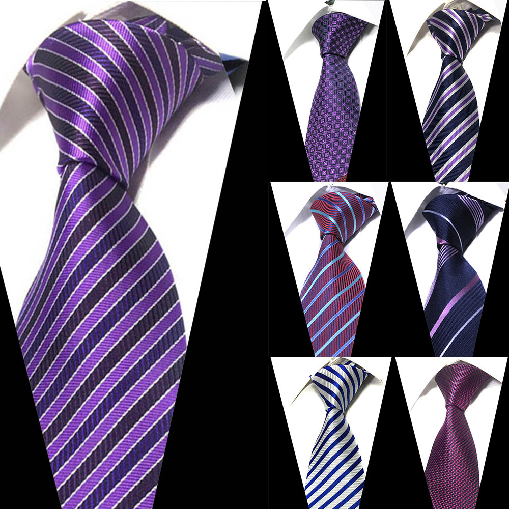 New Fashion Striped Men's Tie Red Blue Classic Neck Ties Leisure Business Wedding High Quality 8cm Silk Necktie Men Classic Tie