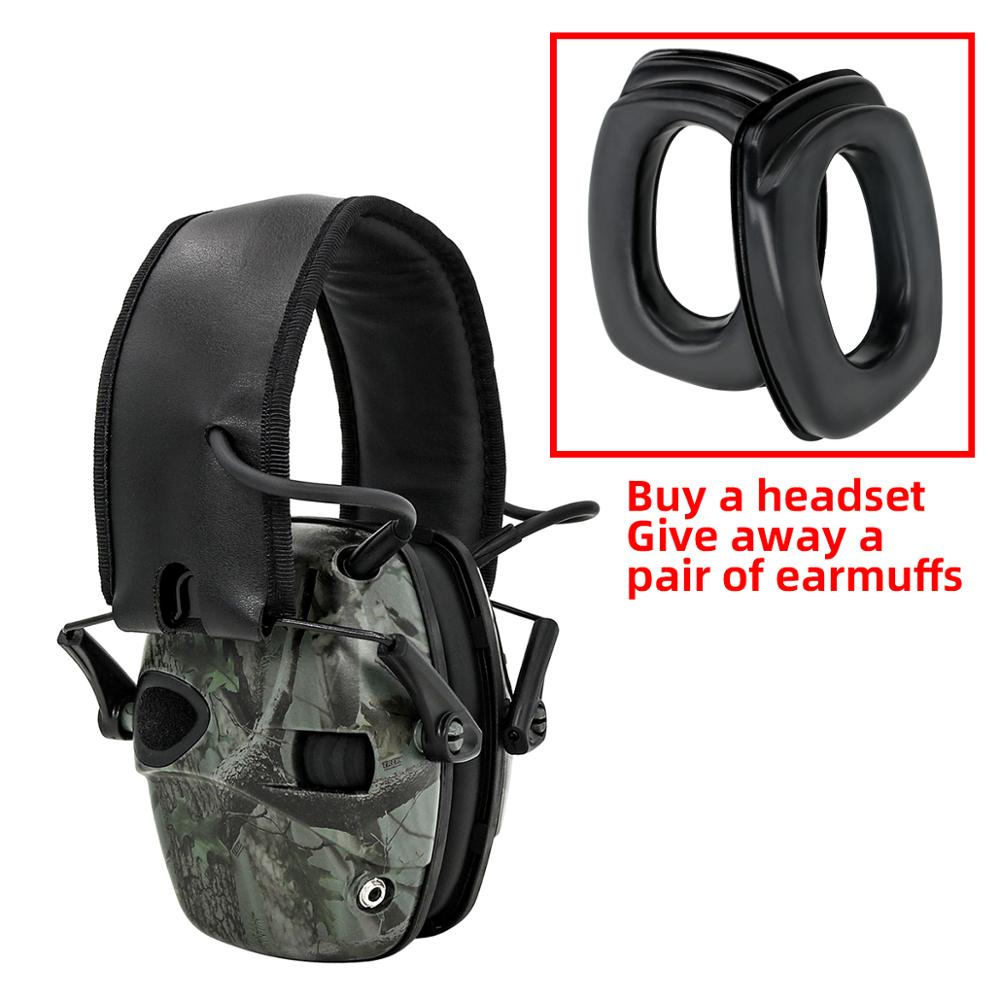 Electronic Ear muff Tactical Headset Anti noise Sound Amplification Shooting Hunting Hearing protection Protective EarmuffsEar Protector   -