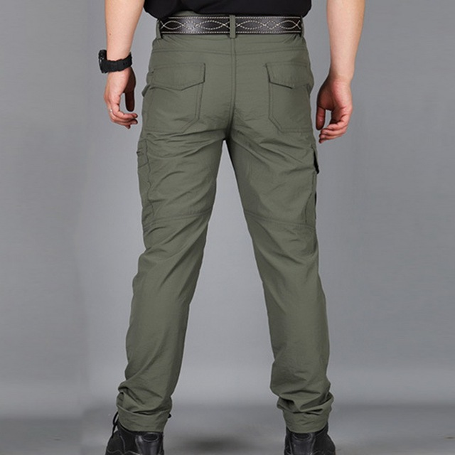 SHUJIN Men Cargo Pant Men Multi-Pocket Overall Male Combat Trousers Casual Tooling Pants Army Green Cargo Pants Men Size S-4XL 3