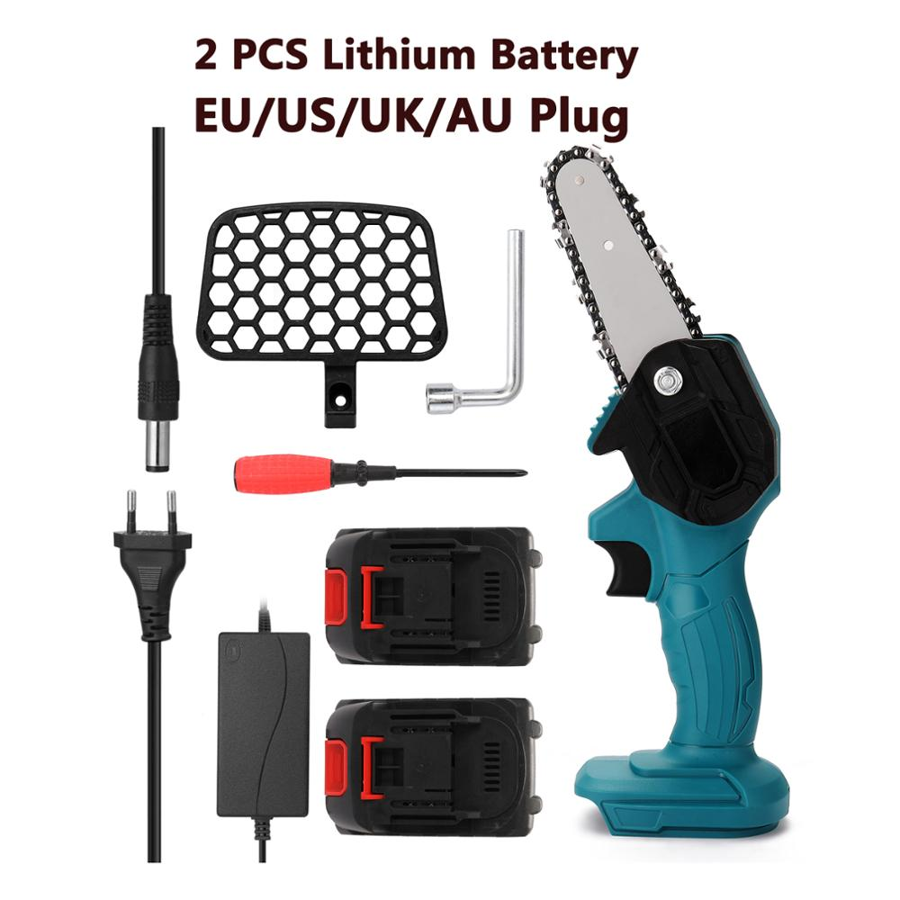Portable Electric Pruning Saw Rechargeable Small Electric Saws Woodworking Electric Saw For Garden Logging Electric Chain Saws