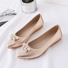 Women Shoes Fashion Loafers Crystal Ballet Flats Shoes Women Elegant Pointed Toe Slip-On Solid Luxury Shallow Plus Size 34-43 women flat ballet flats high quality shoes slip on plus size woman shoes fashion pointed toe luxury brand design ladies loafers