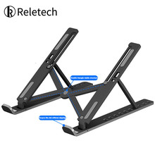 Reletech Foldable Laptop Stand Adjustable Notebook Stand Portable Laptop Holder Tablet Stand Computer Support For MacBook ipad