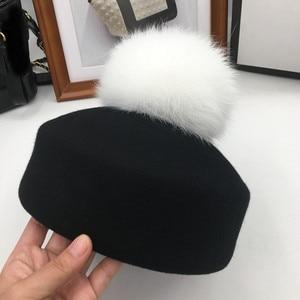 Image 1 - Осенняя и зимняя мода маленькие фетровые шерстяные фетровые шляпы джазовая шляпа свернутый подол