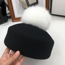 Moda outono e inverno pequeno chapéu de feltro de lã chapéu de feltro chapéu jazz hem roll up