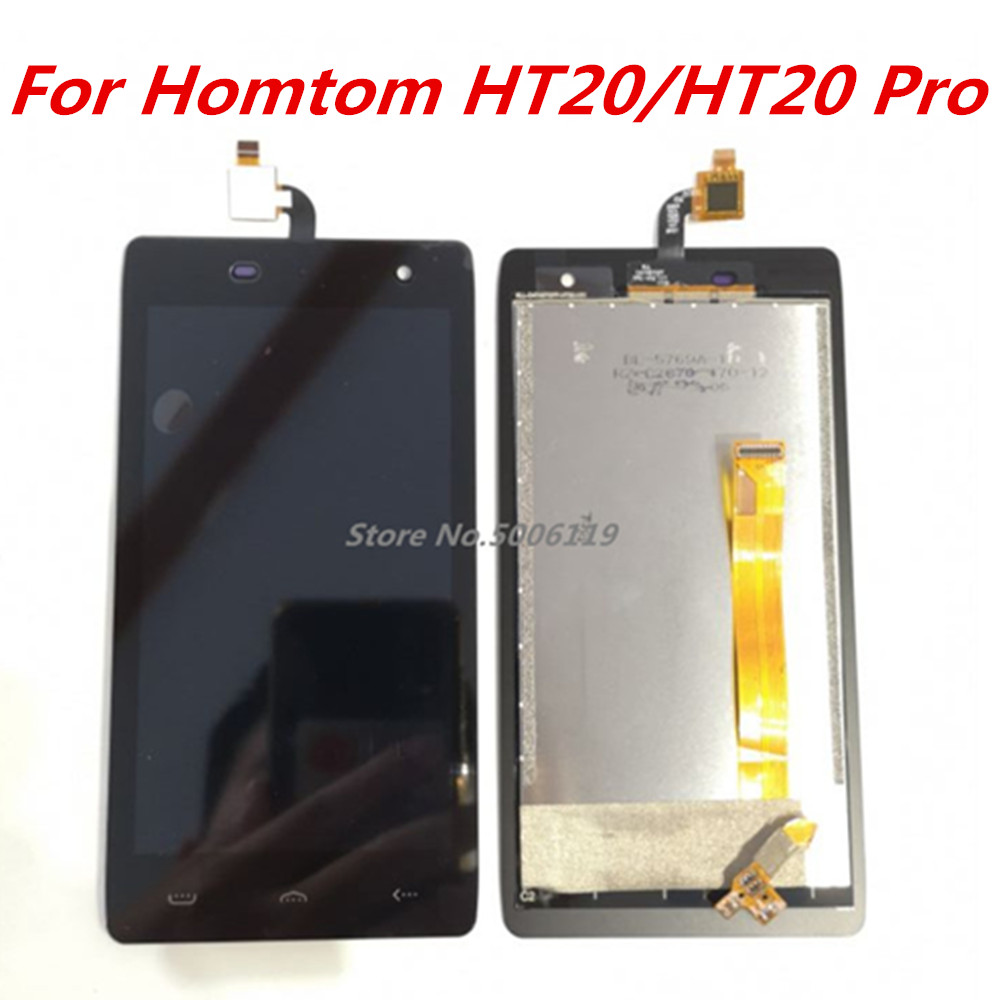 New For HOMTOM HT20 Cell Phone LCD Display + Touch Screen Digitizer Assembly Replacement Glass For homtom ht20 pro(China)