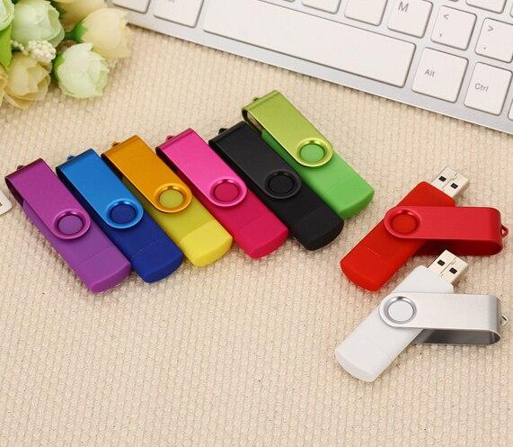 New OTG USB Flash Drive 32gb 16gb 8gb Metal Memory Stick Pendrive 32gb 64 Gb 128 Gb Pen Drive Usb Stick Flash Disk Micro