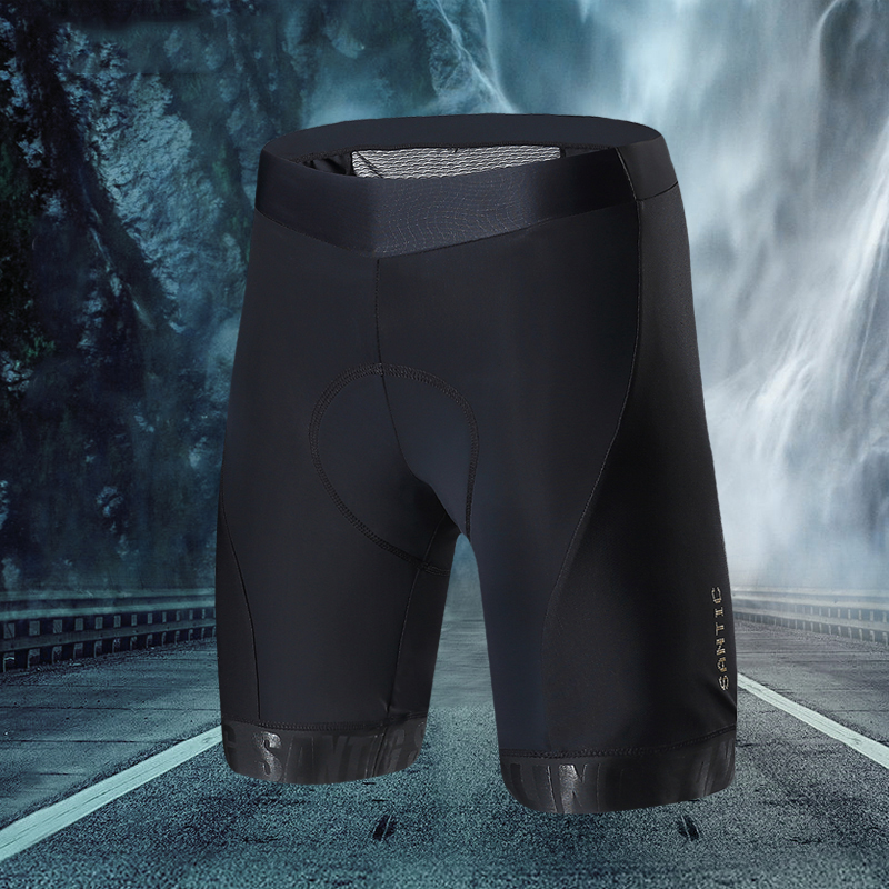 Santic Men Cycling Padded Shorts Pro Fit Italian Imported Riding Pad MTB Road Bike Short Pants Cycling Clothing M7C05084ER
