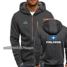 Polaris snowmobiles impressão outono dos homens hoodies com zíper moletom streetwear jaqueta dos homens com capuz agasalho fino fitness outwear