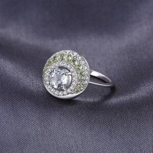 Image 2 - JewelryPalace oryginalna 1.4ct zielony ametyst Peridot efekt aureoli 925 srebro Vintage urok biżuterii moda dla kobiet