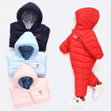 Newborn Baby Winter Hoodie Clothes Baby Climbing Jumpsuit Cotton Outwear Infant Girls Boys Rompers for 0-2 years old