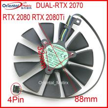 T129215SH T129215SU 12V 88mm Video Karte Lüfter Für ASUS DUAL RTX2060 RTX 2070 2080 O8G-EVO Grafikkarte lüfter