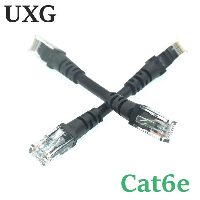 Cabo curto preto do cabo 10cm 1m cat5 cat5e cat6e utp ethernet cabo de rede macho ao cabo masculino do lan do remendo rj45 para o pc dos ethernet do gigabit