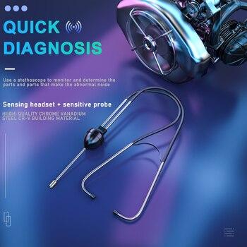 22.5+7CM Mechanics Cylinder Stethoscope Car Engine Block Diagnostic Automotive Hearing Tools Anti-shocked Durable Chromed-steel