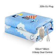 220V Electric Blanket Thicker Heater 3 Body Double Control Warmer 150*180cm Heated Blankets Thermostat Heating