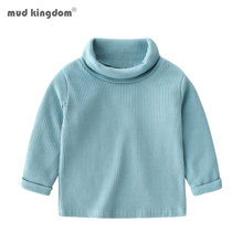 Mudkingdom Boys Shirts Long Sleeve Turtleneck Striped Pullover Tops for Boys