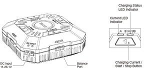 Image 5 - SKYRC caricabatterie Multi Balance E4Q a 4 porte XT60 DC caricabatterie per 2 4S LiPo Drone carica batteria regolabile 2A 3A 5A