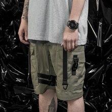 PUPIL TRAVEL PT-1916 Techwear Men's Tactical Cargo Shorts Molle Strip Design Hip Hop Style Punk Fashion