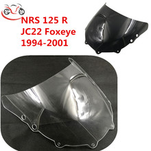 NSR125 R JC22 폭스 아이 프론트 윈드 실드 1994   2002 혼다 윈드 스크린 윈드 디플렉터 용 오토바이 액세서리 Sun Visor 94 02